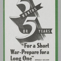 "5 months or 5 years ""For a short war -prepare for a ..."