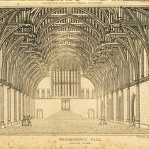 """Edifices of London – public buildings, Westminster Hall looking south"""