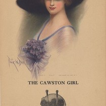 "Cawston Advertising Card: The Cawston Girl ""Violet"""
