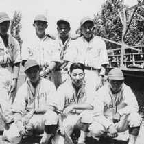 Seven Florin Japanese American baseball players