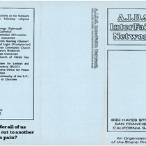 AIDS Interfaith Network Pamphlets