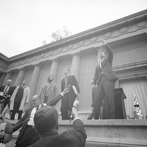 Bettina Aptheker, Art Goldberg and others on the Greek Theater stage