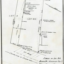 Survey of Lot 8-A, Block 26, Sub. [Subdivision] 5, Marin County, California, ...