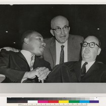 Augustus F. Hawkins with Martin Luther King, Jr. and Pat Brown