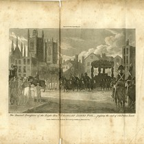 """The Funeral Procession of the Right hon.ble Charles James Fox, passing the ..."