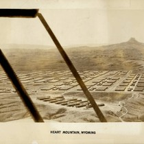 Aerial view of Heart Mountain Relocation Center