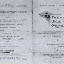 First Programme of the Woman's Symphony