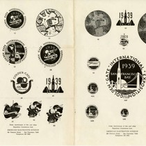 1939 Exposition Devices and Emblems Sheet