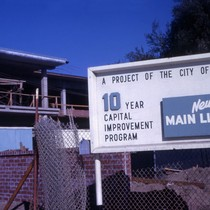 Burbank Central Library 10 Year Capital Improvement Program Sign