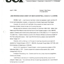 1995-1996 News releases