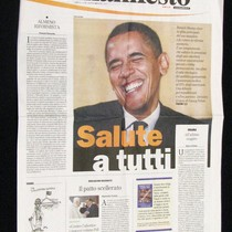 Italian Communist Party Newspaper Featuring Barack Obama
