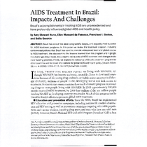 AIDS Treatment in Brazil: Impacts and Challenges [2] Notes