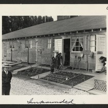 Another view of the barracks, living quarters for families evacuated from San ...
