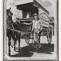[Anthony Zellerbach with horse and carriage.]