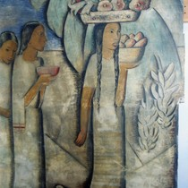"The 1938 Alfredo Ramos Martinez fresco mural ""El Dia del Mercado"" at ..."