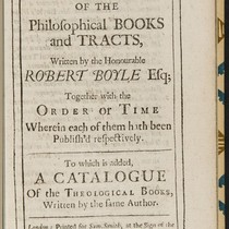 Annotations in A catalogue of the philosophical books and tracts, written by ...