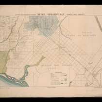 California State irrigation map: Santa Ana sheet, 1888
