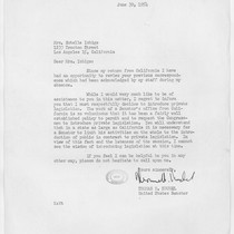 Letter, 1954 June 30, Washington, D.C. to Mrs. Estelle Ishigo, Los Angeles, ...