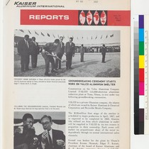 Cover of Kaiser Aluminum International Reports, volume IV, number 1, with feature ...