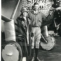Charles A. Lindbergh with mother, Evangeline Lindbergh