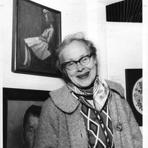 Babs Meyer and her portrait