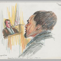 [recto]: 5/28/72 Louis May, being cross-examined by Howard Moore, Jr