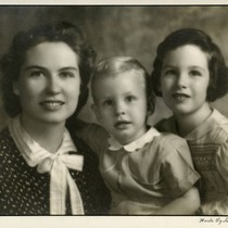 Esther Thurston with children Kendall and Ann