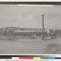 15th [Fifteenth] and Guerrero. [Construction of temporary buildings.] [Photo from collection of ...