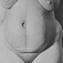 After birth-nude breasts and belly, The Shape of Birth, Mill Valley