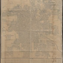 Percival's map of Los Angeles and vicinity : based upon official and ...