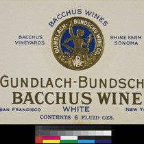 Bacchus Wines Gundlach-Bundschu Bacchus wine white : Bacchus Vineyards, Rhine Farm, Sonoma ...