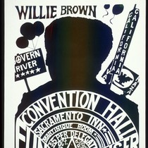 Willie Brown, Announcement Poster for