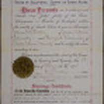 Marriage License and Certificate