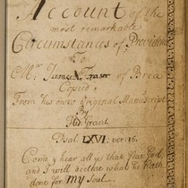 An account of the most remarkable circumstances of Providence to Mr. James ...