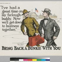 "Bring back a ""bunkie"" with you: ""I've had a great time on ..."