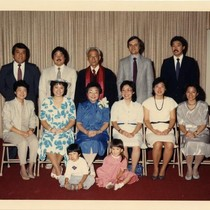 Miriko [Nagahama] and Harry Murakami with Their Family at Harry's Retirement Party, ...
