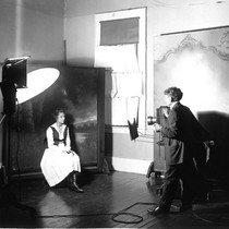 Adeline Cochems having her portrait taken by her father Edward W, Cochems ...