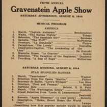 Gravenstein Apple Show program