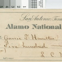 Alamo National Bank personal check