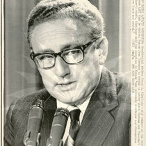 Henry Kissinger at White House News Conference