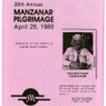[20th annual Manzanar pilgrimage]