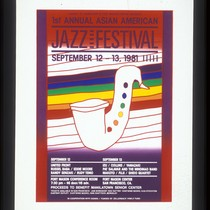 1st Annual Asian American Jazz Festival, Announcement Poster for