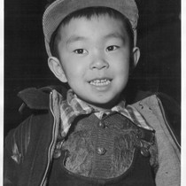 A Sansei, or third generation boy of Japanese ancestry. His father, a ...