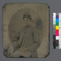 [African American Civil War soldier in Union uniform.]