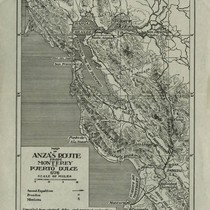 1776 Map of de Anza's Route From Monterey to Puerto Dulce