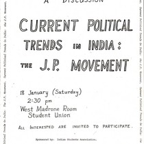 Current political trends in India: the J.P. movement