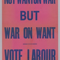 Not wanton war but war on want: Vote Labour