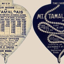 1914 schedule for the Mt. Tamalpais & Muir Woods Railroad, including connections ...