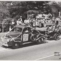 The 1947 Cherry Festival Parade with the Boy Scout Troop # 58