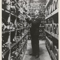 Davis campus. Shelved in the wine cellar at Davis are samples of ...